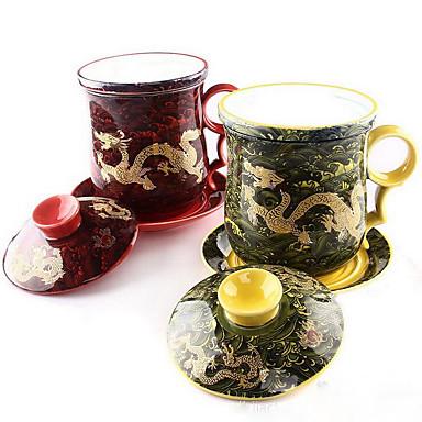 Keramik-Tee-Set Wellen Jinlong Tasse