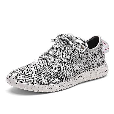Sneakers-Tyl-Komfort-Herre-Sort Rød Grå-Fritid Sport-Flad hæl