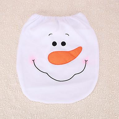 1pc nytår julen tørklæde snemand toiletsæde dækning dekoration indendørs toilet dække forsyninger