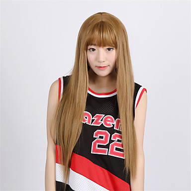 høj kvalitet japansk anime hår parykker irisviel von einzbern lysebrunt midterste del 70cm lang lige cosplay paryk