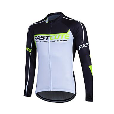 Fastcute Herre / Dame Langærmet Cykeltrøje Cykel Trøje, Hurtigtørrende, Åndbart, Svedreducerende Coolmax®