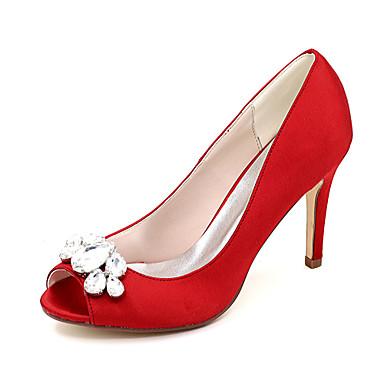 ouvert Escarpin Satin Bleu Ivoire Strass Basique Bout Champagne mariage de Chaussures Aiguille Femme Talon Printemps Eté 06409717 Chaussures wUf7qf