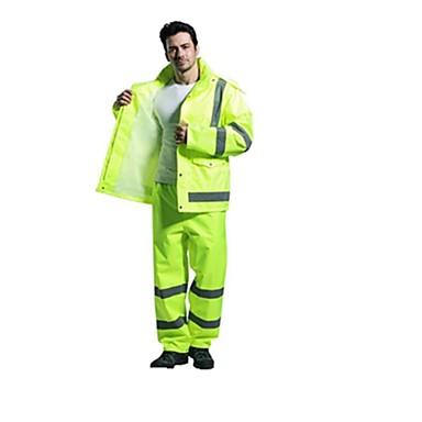 sf liivi heijastava sadetakki sadetta housut sopivat paksu vedenpitävä vaatteet liikenteen varoitus turvallisuus tarjouksesta (myynti xl