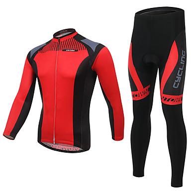 Calça com Camisa para Ciclismo Homens Manga Longa Moto Conjuntos de Roupas Roupa de Ciclismo Secagem Rápida Respirável Confortável