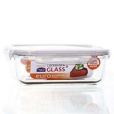1/set Køkken køkken Glas Madpakkebokse 200*152*74mm