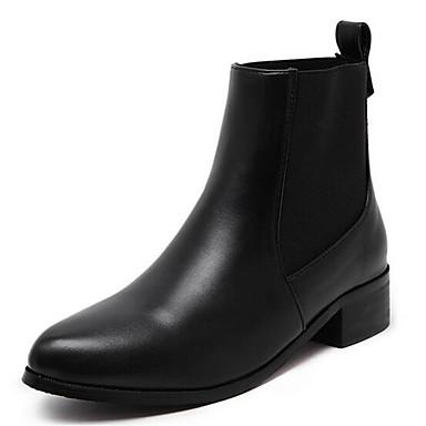 Bootsit-Matala korko-Naisten-Tekonahka-Musta Ruskea-Ulkoilu Rento-Ratsastussaappaat