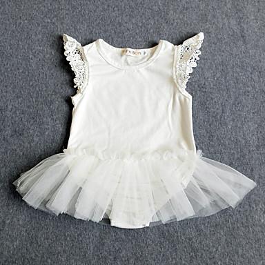 Baby Overall og jumpsuit Bomuld Ensfarvet Forår Sommer,