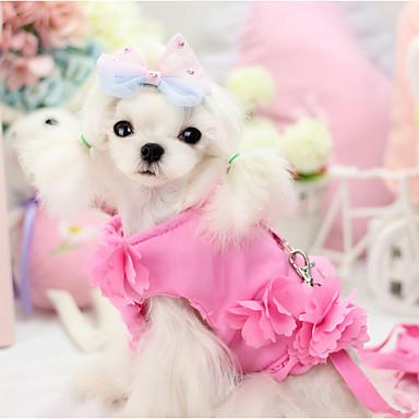 Hund Seler Dyne Jakker Hundetøj med snor Solid Lilla Blå Lys pink Kostume For kæledyr