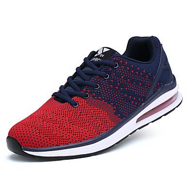Masculino-Tênis-Conforto-Rasteiro-Preto Azul Vermelho-Tule-Casual