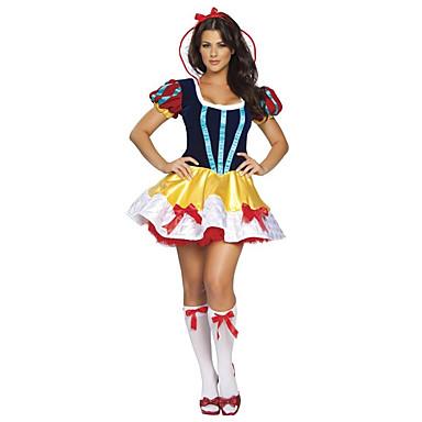Fantasias de Cosplay Princesa Conto de Fadas Festival/Celebração Trajes da Noite das Bruxas Vintage Vestido Meias Decoração de CabeloDia