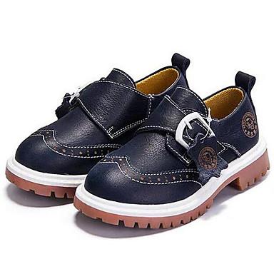 Oxfords-Nappa Leather-Komfort-Unisex-Blå Brun-Udendørs Fritid Sport-Flad hæl