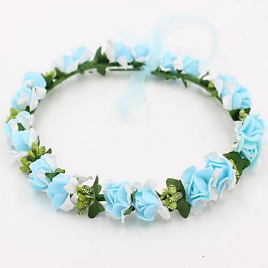 baratos Bijuteria de Mulher-Mulheres Para Meninas Floral Doce Infantil Renda Liga Acessórios de Cabelo-Flor