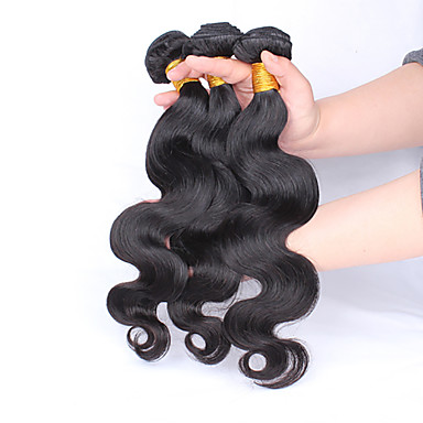 Az emberi haj sző Maláj haj Hullámos haj 12 hónap 3 darab haj sző