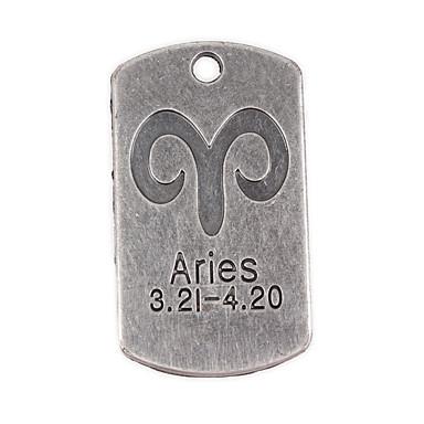 10st nieuwe legering onderdelen twaalf sterrenbeeld Ram vierkante accessoires