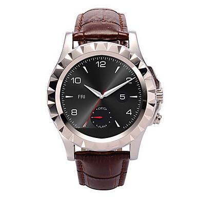Herren Smart Uhr Quartz / Leder Band Bequem Braun Grau Khaki Gold Schwarz Silber