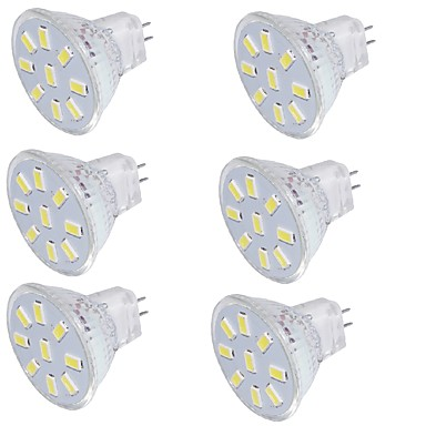 GU4(MR11) LED-spotlys MR11 9 leds SMD 5733 Dekorativ Varm hvid Kold hvid 150lm 3000/6000K 30-09-16V