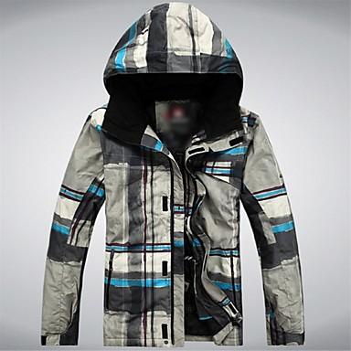 GQY® Herrn Skijacke warm halten Windundurchlässig tragbar Skifahren Winter Sport Polyester