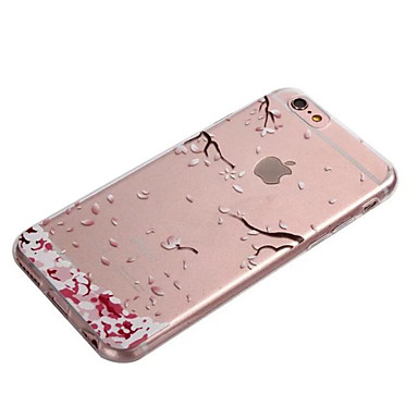 Case For Apple iPhone 8 iPhone 8 Plus iPhone 6 iPhone 6 Plus Transparent Back Cover Flower Soft TPU for iPhone 8 Plus iPhone 8 iPhone 7