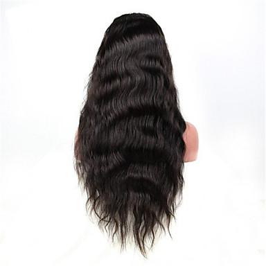 Aidot hiukset Lace Front Peruukki Luonnolliset aaltoilevat 130% Tiheys 100% käsinsidottu Afro-amerikkalainen peruukki Luonnollinen