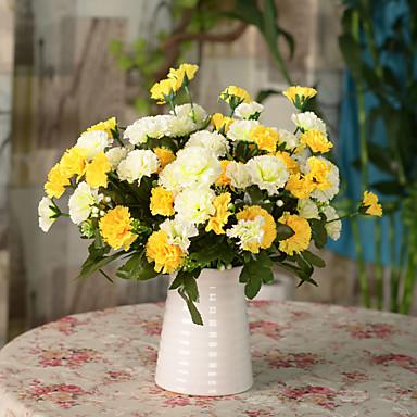 Kunstbloemen 1pcs Tak Moderne Style Anjer Bloemen voor op tafel