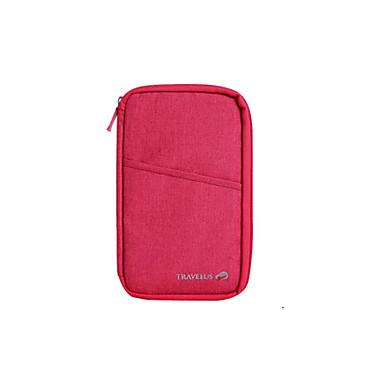 Rejsepung Pas- og ID-holder Oppakningsorganisering Multi-funktion for Opbevaring under rejserRød