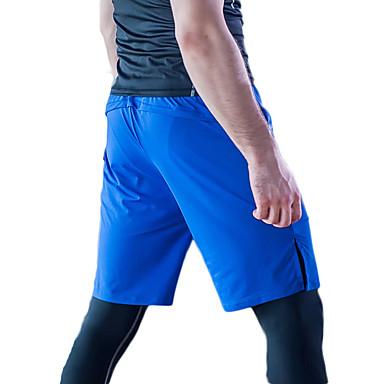 Heren Hardloopshorts Sneldrogend Ademend Lichtgewicht materiaal Comfortabel Cropped voor Training&Fitness Hardlopen Polyester Slank Zwart