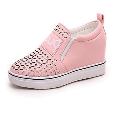 Sneakers-Læder-Creepers-Dame-Sort Blå Rosa Sølv-Udendørs Fritid-Platå