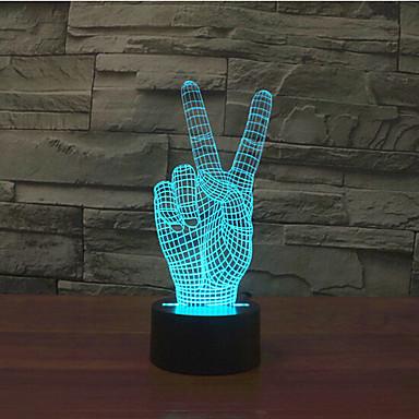Gewinnen Sie Sieg Touch Dimmen 3d führte Nachtlicht 7colorful Dekoration Atmosphäre Lampe Neuheit Beleuchtung Licht