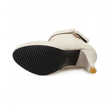 Bottes Verni de Talons Similicuir Cuir Chaussures à boîtes Hiver Chaussures de 05155751 Western Synthétique Cowboy Combat Automne Femme a81t0cwq8