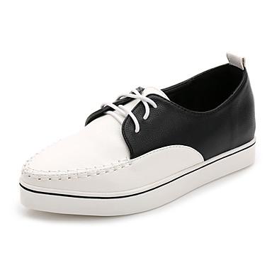 Dame-Mikrofiber-Platå-Komfort-Flate sko-Fritid-
