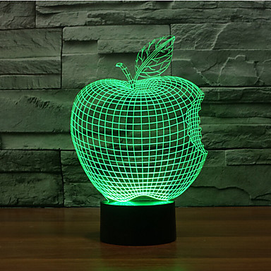 1 stk 3D nattlys Dekorativ LED