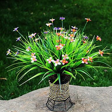 1 Ast Polyester Kunststoff Pflanzen Tisch-Blumen Künstliche Blumen