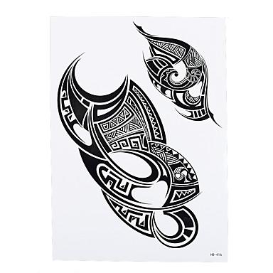 1 Tatuointitarrat Toteemisarja Non Toxic / Kuvio / Alaselkä / WaterproofNaisten / Miesten / Aikuinen Flash Tattoo väliaikaiset tatuoinnit