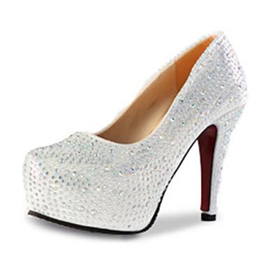 Mujer Zapatos PU Otoño Tacones Tacón Stiletto Plata / Rojo