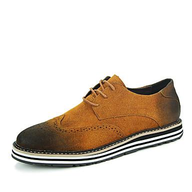 Miehet kengät PU Kevät Kesä Syksy Talvi Comfort Oxford-kengät Solmittavat Käyttötarkoitus Kausaliteetti Juhlat Musta Ruskea Sininen