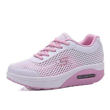 Dames Sneakers Comfortabel Tule Lente Zomer Herfst Causaal Comfortabel Platte hak Fuchsia Groen Roze Lichtblauw