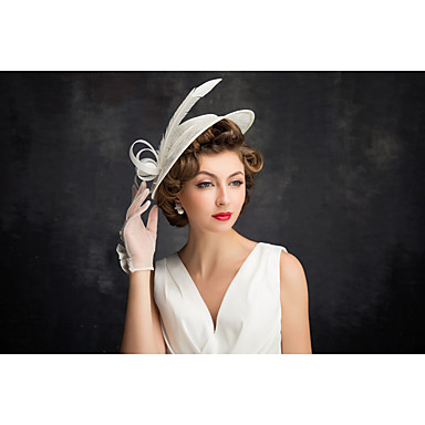 Vrouwen Veren Vlas Net Helm-Speciale gelegenheden Fascinators 1 Stuk