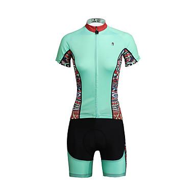 ILPALADINO Kort Ærme Cykeltrøje og shorts Dame Cykel Tøjsæt/JakkesætÅndbart Hurtigtørrende Ultraviolet Resistent Komprimering