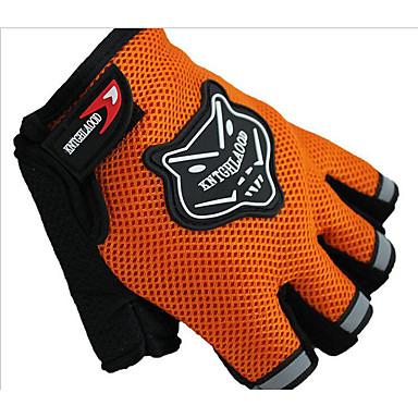 Kort Finger Nylon Net Nylon Net Motorcykler Handsker