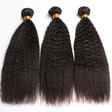 Menneskehår, Bølget Indisk hår Yaki 3 Dele hår vævninger