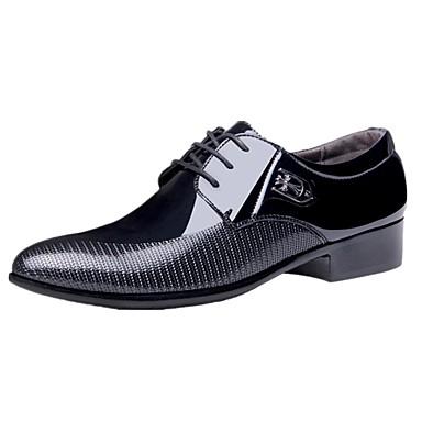 Masculino sapatos Couro Envernizado Inverno Primavera Verão Outono Conforto Sapatos formais Oxfords Caminhada Cadarço Para Casual Festas