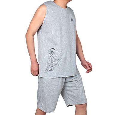 Heren Trainingspak Korte mouw Ademend Running T-Shirt + Shorts Pakken voor Training&Fitness Recreatiesport Badminton Fietsen/Fietsen
