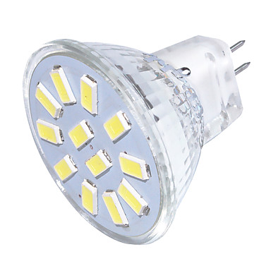 YouOKLight 250 lm GU4 (MR11) LED-spotlampen MR11 12 LED-kralen SMD 5733 Decoratief Warm wit / Koel wit 30/09 V / 1 stuks / RoHs / FCC