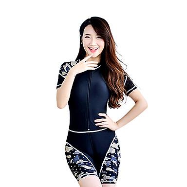 Damen Dive Skins Schutz gegen Hautausschlag Wasserdicht UV-resistant Tactel Taucheranzug Kurzarm Tauchanzüge Bademode Kleidungs-Sets-