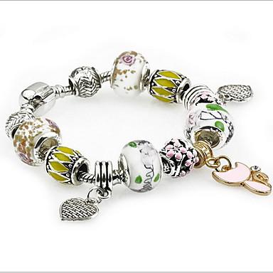 Dames Bedelarmbanden Strand Armbanden Bohemia Style Eenvoudige Stijl Modieus Sierstenen Dubbele laag Kristal LegeringBladvorm Liefde