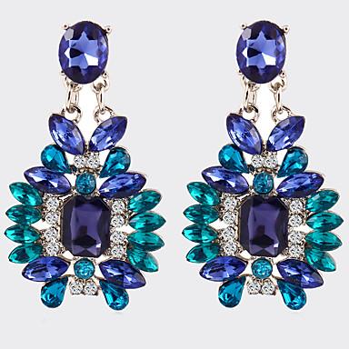 Modieus Vintage Kristal Verzilverd Legering Geometrische vorm Blauw Sieraden Voor Feest Dagelijks Causaal 1 paar