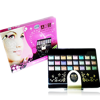 59 Gepresstes Puder+Lidschatten+Lippenstifte+Puderquasten/Kosmetikbürsten Schimmer Gesicht Farbiger Lipgloss Lang anhaltend China
