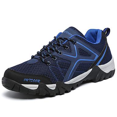 Unisex Schoenen Tule Lente Herfst Comfortabel Sneakers Trektochten Veters voor Causaal Donkerblauw Grijs Fuchsia Marine Blauw