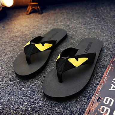 Damen Schuhe Kunststoff Sommer Slippers & Flip-Flops Wasser-Schuhe Flacher Absatz für Normal Schwarz Braun
