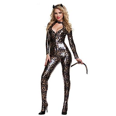 Dyremønster Bunny Piger Cosplay Kostumer Festkostume Dame Jul Halloween Karneval Festival / Højtider Halloween Kostumer Sort+Grå Vintage